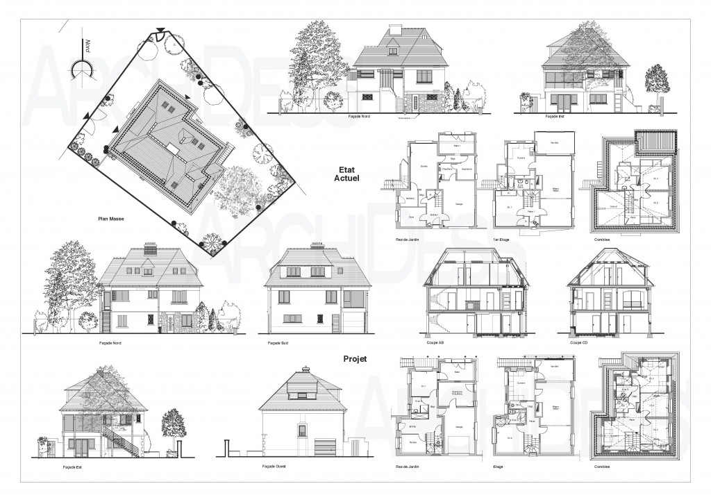 Simple best archidessu plans extrha b une ancienne maison for Plan ancienne maison