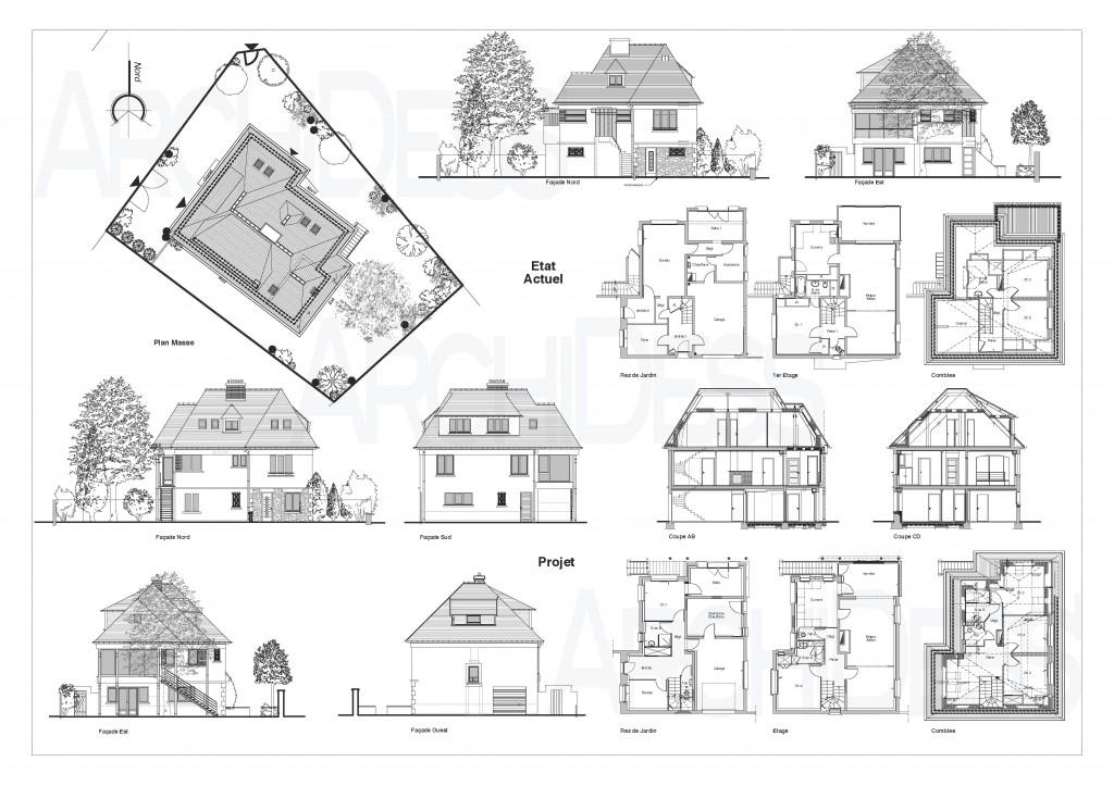 01 ArchiDess' Plans Ext-Réha 1b