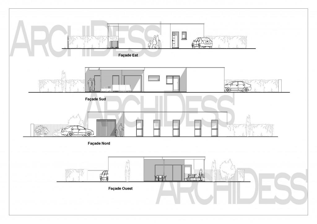 Maison Neuve 93m2 Façades