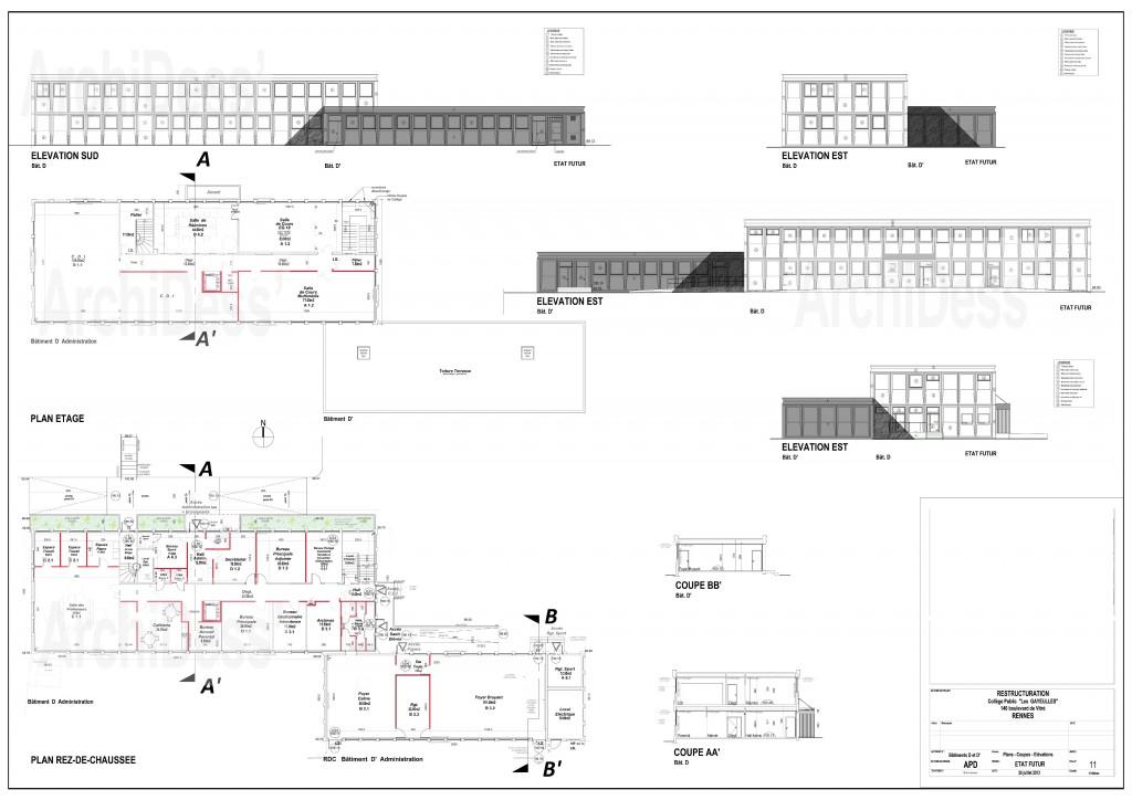 11-APD-CRG-Bât.D-D' Plans-Façades Futur