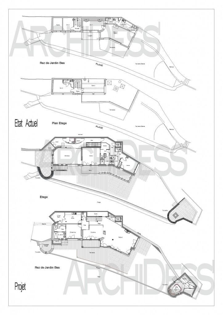 ArchiDess' Plans Ext-Réha 2a